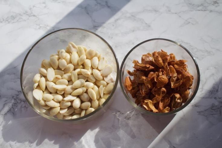 peeled almonds